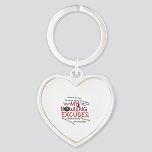 MY BOWLING EXCUSES Heart Keychain
