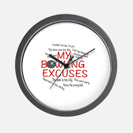 MY BOWLING EXCUSES Wall Clock