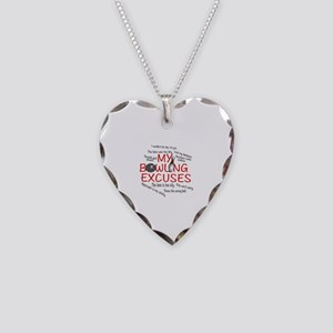 MY BOWLING EXCUSES Necklace Heart Charm