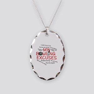 MY BOWLING EXCUSES Necklace Oval Charm