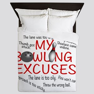 MY BOWLING EXCUSES Queen Duvet