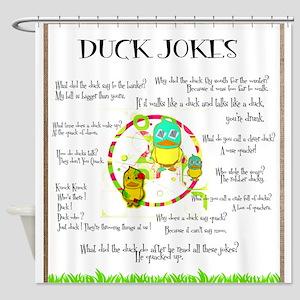 DUCK JOKES Shower Curtain
