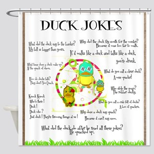 DUCK JOKES Shower Curtain