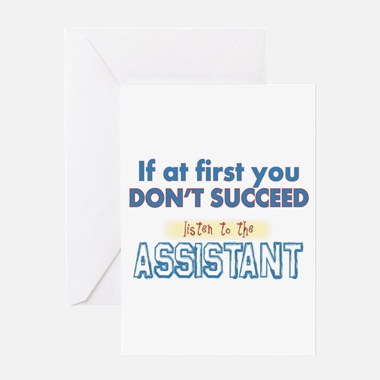 Assistant Greeting Cards