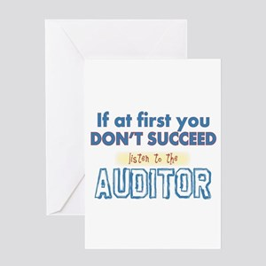 Auditor Greeting Cards