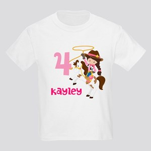 Cowgirl Birthday Kids Light T-Shirt