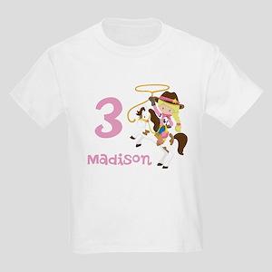 Cowgirl Birthday Kids Light T-Shirt