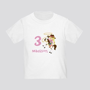 Cowgirl Birthday Toddler T-Shirt