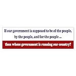 Whose Government Bumper Sticker (50 Pack)