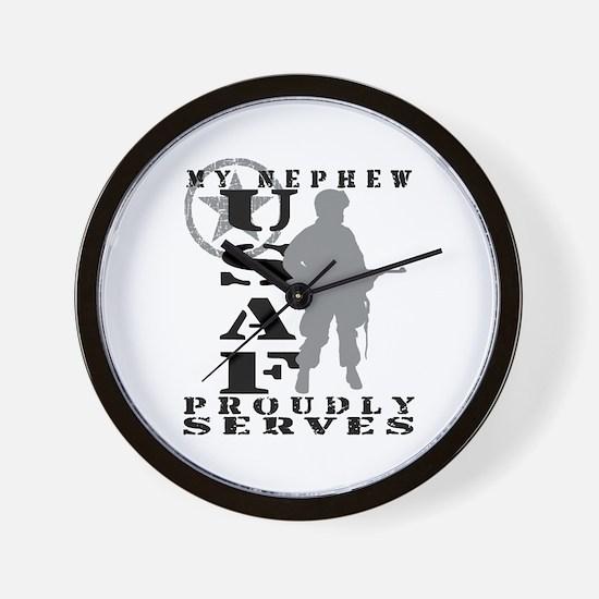 Nephew Proudly Serves - USAF Wall Clock