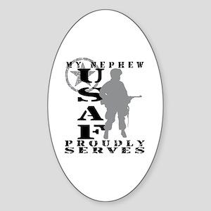 Nephew Proudly Serves - USAF Oval Sticker