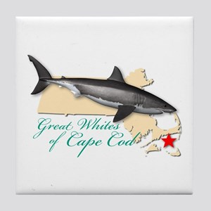 Great Whites of Cape Cod Tile Coaster