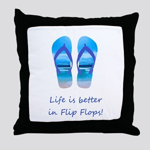Life is Better in Flip Flops Fun Summer art Throw