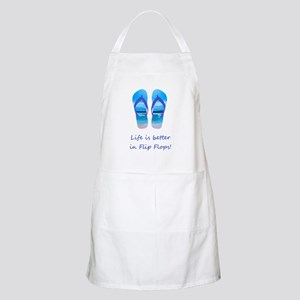 Life is Better in Flip Flops Fun Summer art Apron