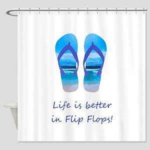 Life is Better in Flip Flops Fun Summer art Shower