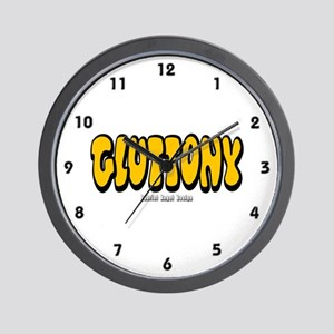 Gluttony (Thick) Wall Clock