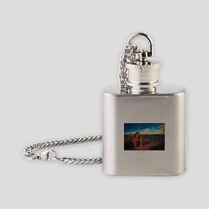 Utah Arches National Park Flask Necklace