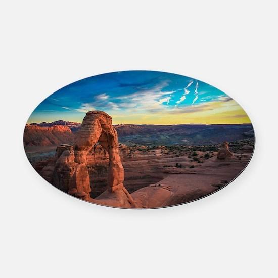 Utah Arches National Park Oval Car Magnet