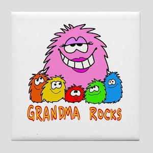 Grandma Rocks! Tile Coaster