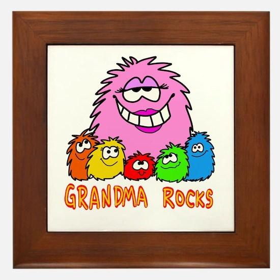 Grandma Rocks! Framed Tile