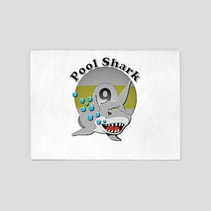 Nine Ball Pool Shark 5'x7'area Rug