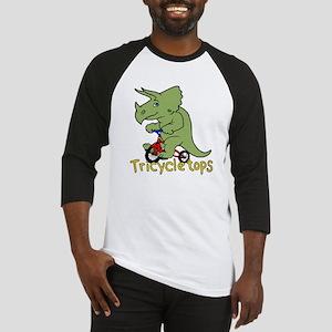 Triceratops Bicycle Baseball Jersey