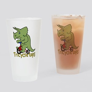 Triceratops Bicycle Drinking Glass