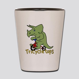 Triceratops Bicycle Shot Glass