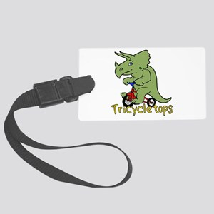 Triceratops Bicycle Large Luggage Tag