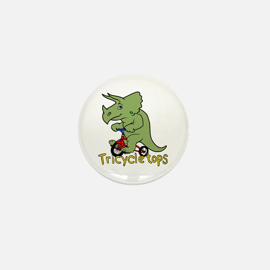 Triceratops Bicycle Mini Button