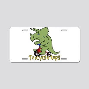 Triceratops Bicycle Aluminum License Plate