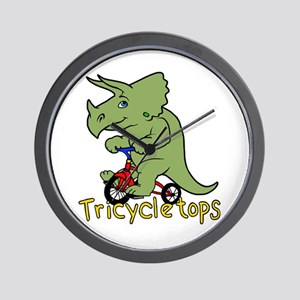 Triceratops Bicycle Wall Clock