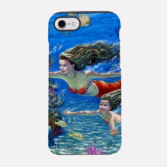 Mermaid And Her Daughter Swi iPhone 8/7 Tough Case