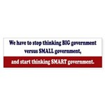 Smart Government Bumper Sticker (10 Pack)