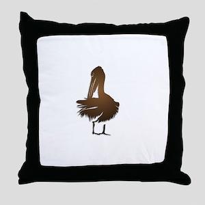 Bronze Pelecan Throw Pillow