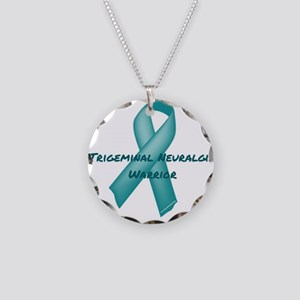 Trigeminal Neuralgia Warrior Necklace Circle Charm