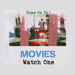 MOVIES WATCH ONE. I LOVE THE MOVIES. Throw Blanket