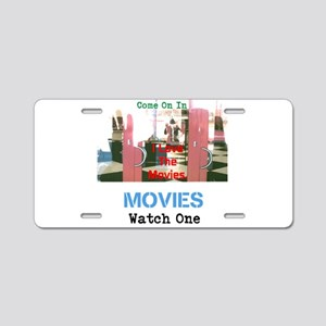 Movies Watch One. I Love Aluminum License Plate
