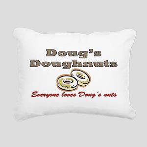DOUG'S DOUGHNUTS Rectangular Canvas Pillow