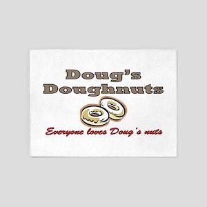 DOUG'S DOUGHNUTS 5'x7'Area Rug