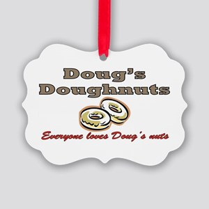 DOUG'S DOUGHNUTS Picture Ornament