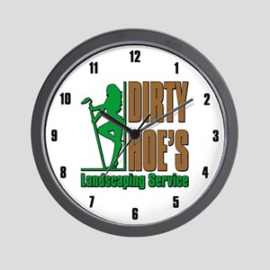 DIRTY HOE'S LANDSCAPING Wall Clock