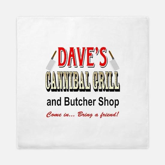 DAVE'S CANNIBAL GRILL Queen Duvet