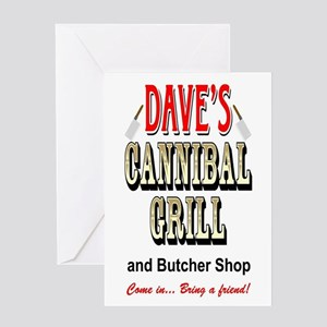 DAVE'S CANNIBAL GRILL Greeting Card