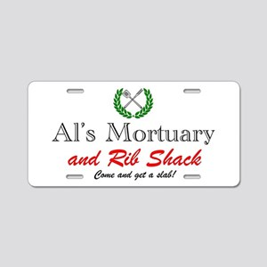AL'S MORTUARY Aluminum License Plate