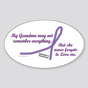 Never Forgets To Love (Grandma) Oval Sticker