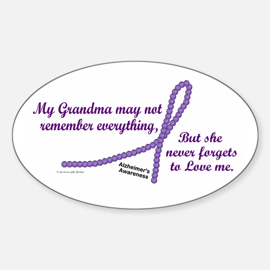 Never Forgets To Love (Grandma) Oval Decal