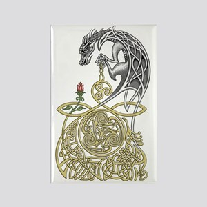 Celtic Dragon Rectangle Magnet