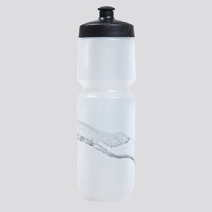 dog paw and human hand Sports Bottle