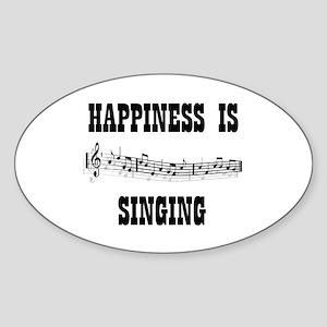 SINGING Oval Sticker